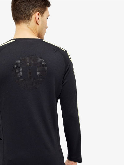 J Lindeberg Men's  Active Wear Camron Double Mesh Long Sleeve - BLACK