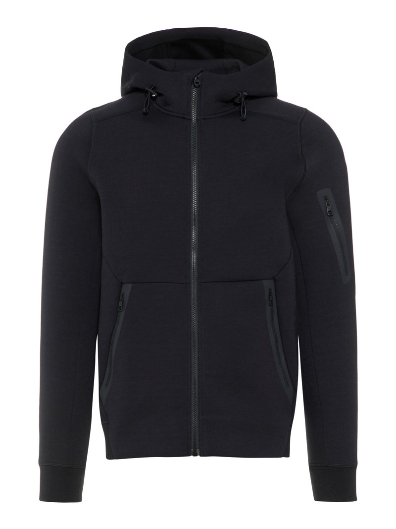 J Lindeberg Men's Athletic Hoodie Tech Sweat- BLACK
