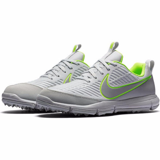 Nike Men's Explorer 2 Golf Shoes - PURE PLATINUM/WOLF GREY-VOLT