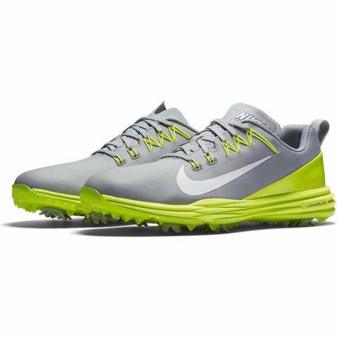 Nike Men's Lunar Command 2 Golf Shoes - WOLF GREY/WHITE-VOLT