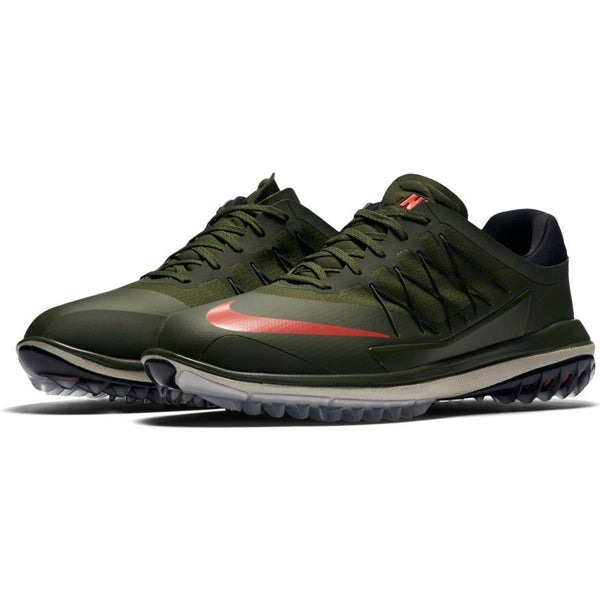 Nike Men's Lunar Control Vapor Golf Shoes - CARGO KHAKI/MAX ORANGE-BLACK-LIGHT BONE