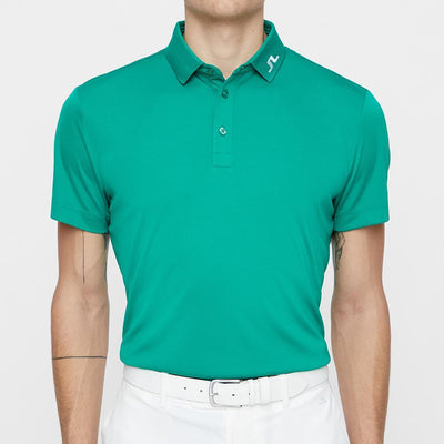 J.LINDEBERG Mens - M Ltd Edition KV REG FIT TX JERSEY PLUS - GOLF GREEN