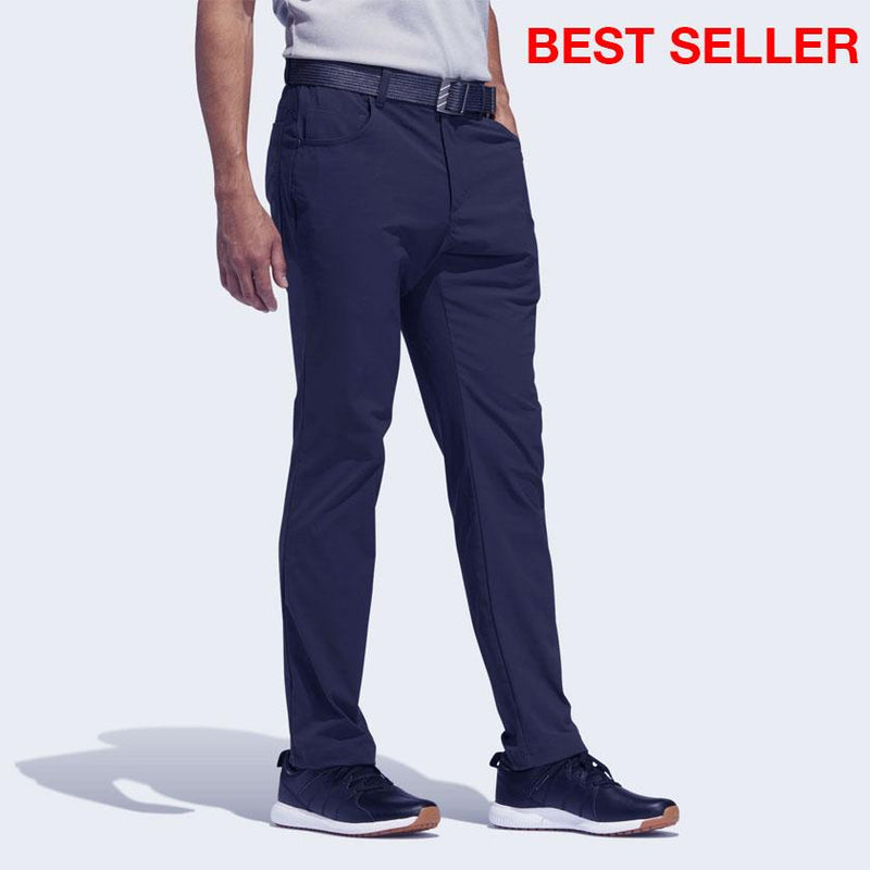 adidas Men's ADICROSS FIVE-POCKET SLIM FIT PANTS - NAVY