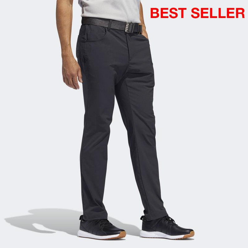 adidas Men's ADICROSS FIVE-POCKET SLIM FIT PANTS - CARBON