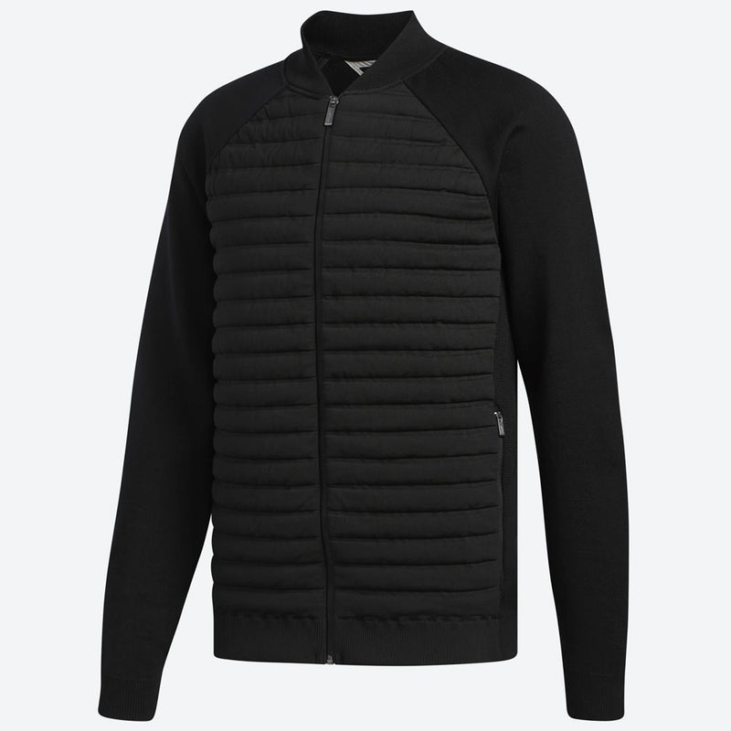 ADIDAS MENS QUILTED HYBRID JACKET - BLACK