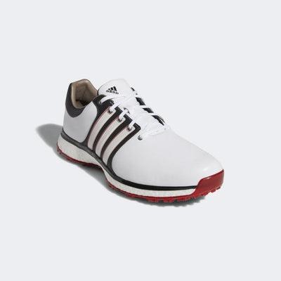 ADIDAS MEN'S GOLF TOUR360 XT-SL SHOES - CLOUD WHITE / CORE BLACK / SCARLET