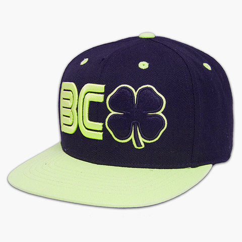 BLACK CLOVER - BC Flat #4 - Black Clover/Neon Trim/Black Hat