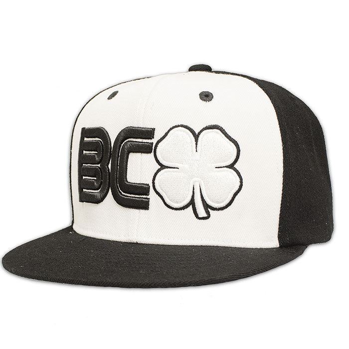 BLACK CLOVER -BC Flat #1- Black and White Flat Brim