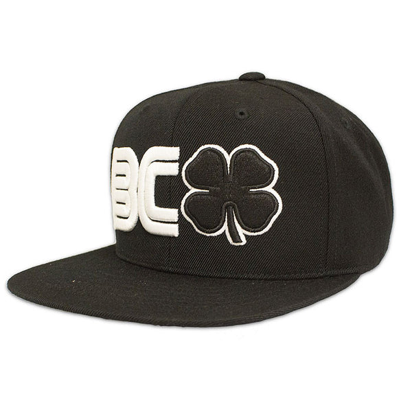 BLACK CLOVER - BC Flat #2- Black/White Hat