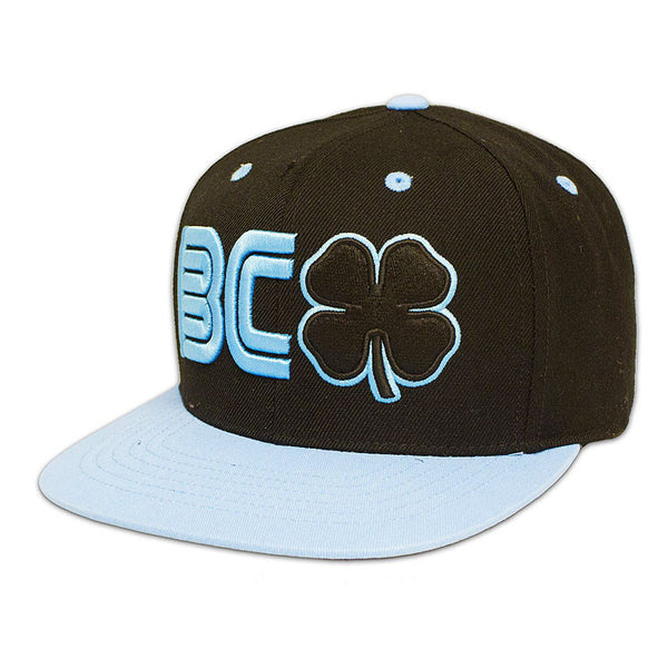 BLACK CLOVER -BC Flat #3- Black Clover/Blue Trim/Black Hat