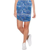 Womens Catwalk Z Knit Skirt - Blue Print