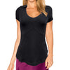 Womens Catwalk Taylor Short Sleeve Golf Top - Black