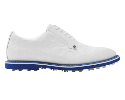 G/FORE MEN'S LIMITED EDITION DEBOSSED GALLIVANTER GOLF SHOE - SNOW/LAPIS