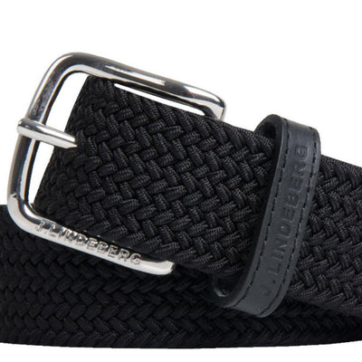 J.LINDEBERG MENS CHAPPER 35 Elastic Belt - BLACK