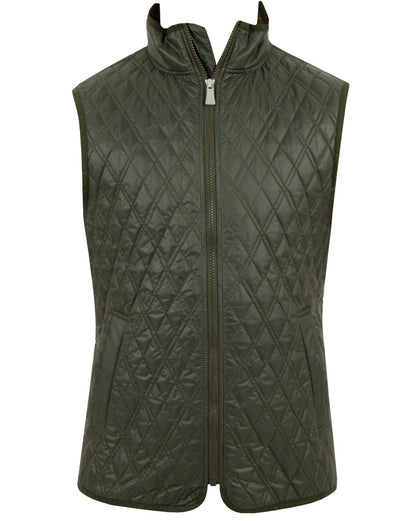 J Lindeberg Men's Quilted Club Vest - DARK GREEN