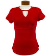 Womens Catwalk Front2Back Short Sleeve Golf Top - Red