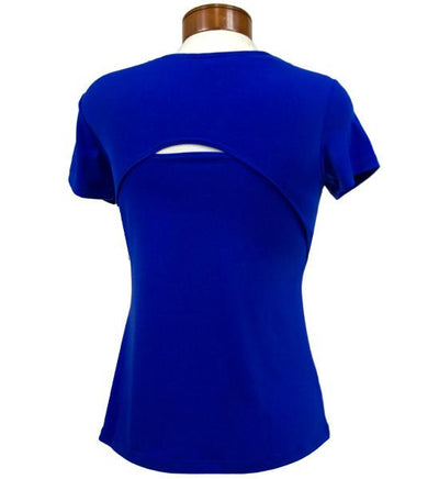 Womens Catwalk Front2Back Short Sleeve Golf Top - Sapphire