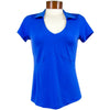 Womens Catwalk Taylor Short Sleeve Golf Top - Blue