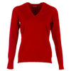 Galvin Green Womens Caitlin Merino Wool V-NECK SWEATER - RED