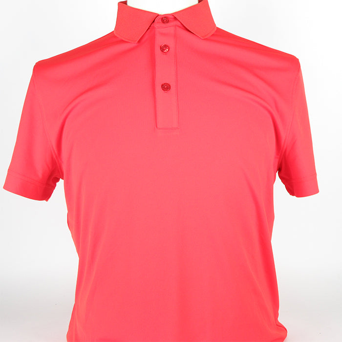 J.Lindeberg Mens - Clay Reg TX Jersey Golf Polo - Racing Red