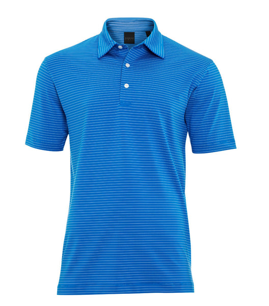 Fine Stripe Stretch Jersey Polo