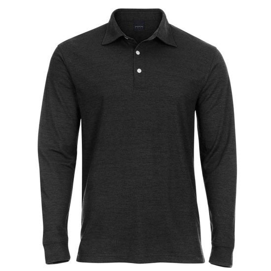 Heathered Stretch Pique Polo
