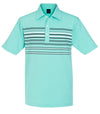 Dunning - Multi-Stripe Stretch Jersey Polo - DIGITAL