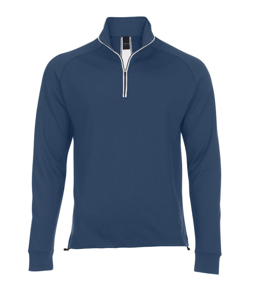 Striped 1/4-Zip Thermal Stretch