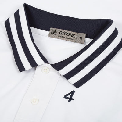G/FORE MENS DECK POLO -SNOW