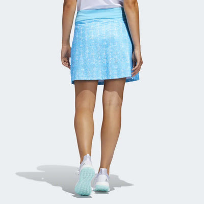 adidas Women's ULTIMATE PRINTED SPORT SKORT - BRIGHT CYAN / WHITE