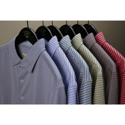 Mens Short Sleeve 4 Color Micro-Stripe JERSEY