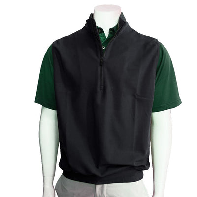 Donald Ross Liquid Cashmere Fleece Vest - BLACK