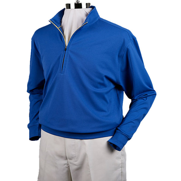 DONALD ROSS - 1/2 ZIP TECH PULLOVER - ATLANTIC / PINK