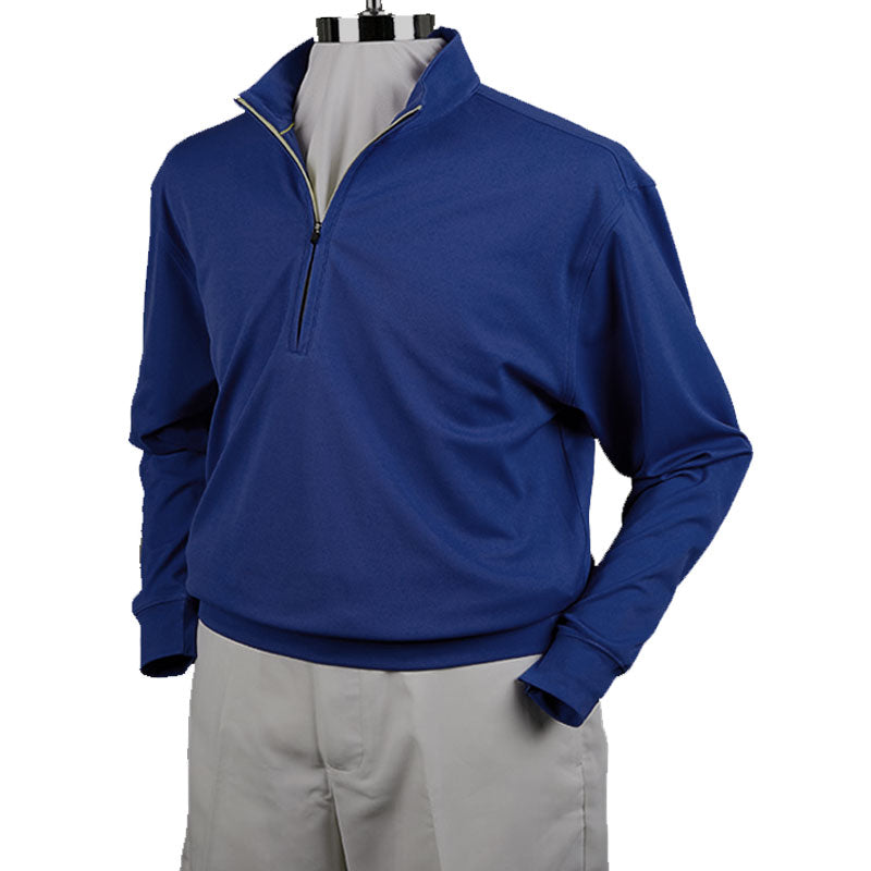DONALD ROSS - 1/2 ZIP TECH PULLOVER - NAVY / KELLY GREEN