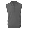 Donald Ross Mens 1/2 Zip 100% Merino Wool Vest - GREY