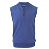 Donald Ross Mens 1/2 Zip Lightweight Merino Wool Vest - OCEAN