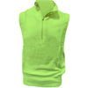 Donald Ross Mens 1/2 Zip Lightweight Sleeveless Stretch Knit Cotton Vest - LIME