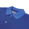 Donald Ross Mens Short Sleeve 2 Color Stripe JERSEY Polo, Knit Collar - PACIFIC / NAVY