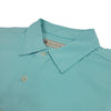 Donald Ross Mens 2 Color Micro Stripe on JERSEY SELF COLLAR Polo - SEA FOAM / CREAM