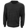 Donald Ross Mens 100% Merino Wool Lightweight Striped Sweater - CHARCOAL