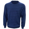 Donald Ross Mens 100% Merino Wool Lightweight Striped Sweater - NAVY