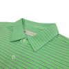 Donald Ross Mens Short Sleeve JERSEY - SELF COLLAR - KEYLIME / CREAM / NAVY