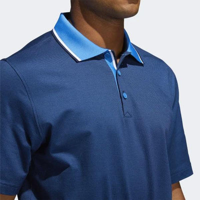 adidas Men's ADIPURE PREMIUM TWO-TONE POLO SHIRT - TRUE BLUE