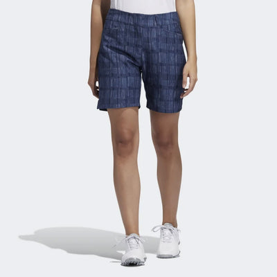adidas Women's GOLF ULTIMATE CLUB PRINTED SHORTS - NIGHT INDIGO