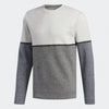 ADIDAS MENS GOLF ADICROSS HEATHER FLEECE CREW SWEATSHIRT - GREY/BLUE