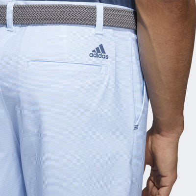 adidas Men's ULTIMATE365 HEATHER STRIPE SHORTS - GLOW BLUE