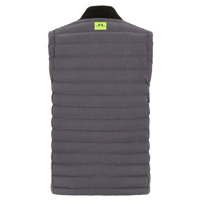 J.LINDEBERG Mens SLIM FIT EASE VEST - ASHPALT BLACK - SZ MEDIUM