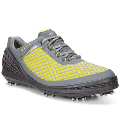 ECCO Men's - Cage Evo - Spiked Golf Shoes - Sulphur-Concrete/Black