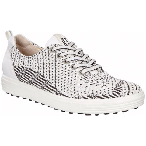 ECCO Women's - Casual Hybrid Knit Shoes - White/Black