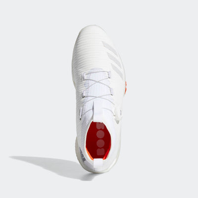ADIDAS MEN'S CODECHAOS BOA GOLF SHOES - CLOUD WHITE / GREY ONE / SOLAR RED